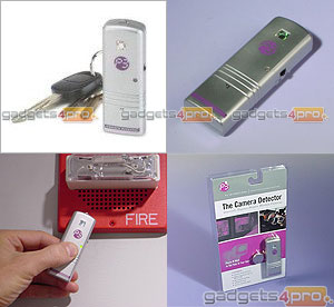 Hidden camera detector for security work